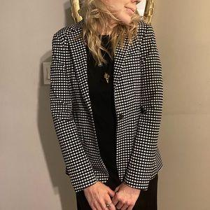 NWT! Banana Republic Black white Checkered blazer